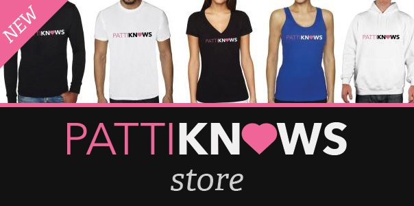 The Official PattiKnows merchandise store, now open!