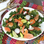 Real Girl's Kitchen: Shrimp and grapefruit kale salad