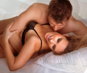 Woman enjoys oral sex from man