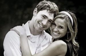 Couple celebrates an engagement