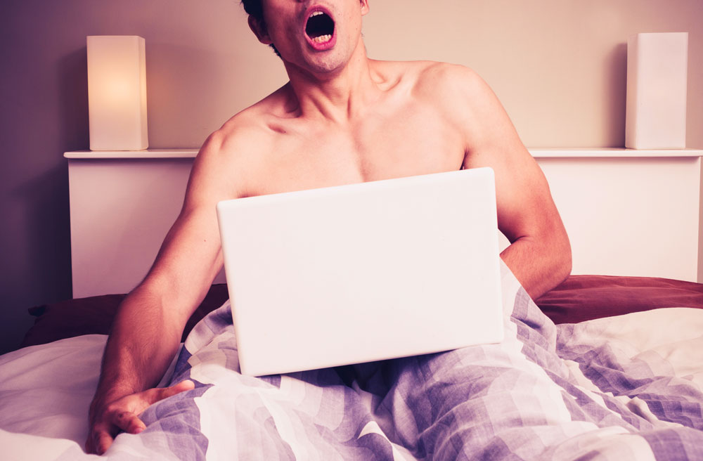 Man addicted to watching online porn