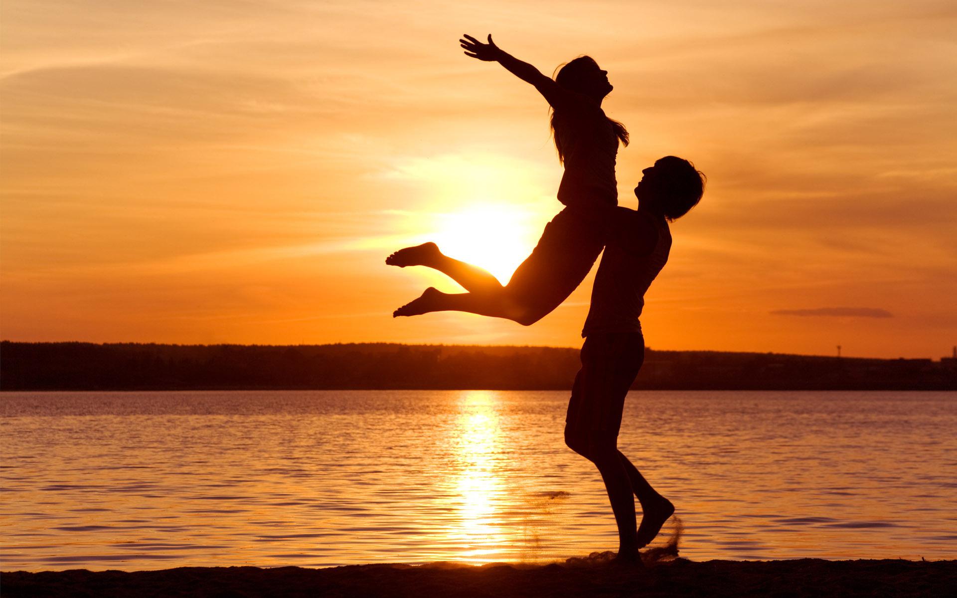 love-man-woman-silhouette-sun-sunset-sea-lake-beach